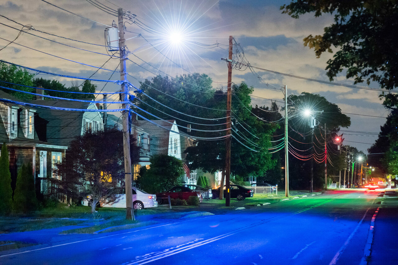 In the summer of 2016, the artist Dan Borelli changed the colors of the streetlights in Ashland, Massachusetts, to reflect underground concentrations of toxic chemicals.