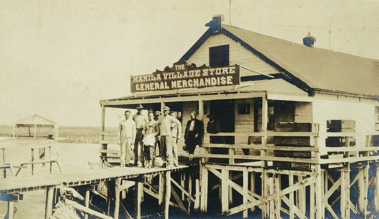 Manila Village, built well after St. Malo was established, included a fishing platform and general store near the town of Jean Lafitte, south of New Orleans.