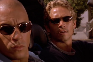 Vin Diesel and Paul Walker in <em>The Fast and the Furious</em>.