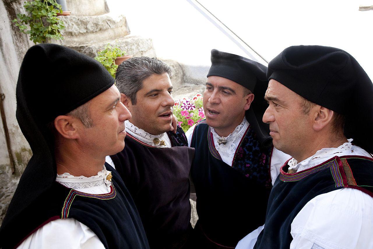 A traditional Sardinian cantu a tenòre quartet.