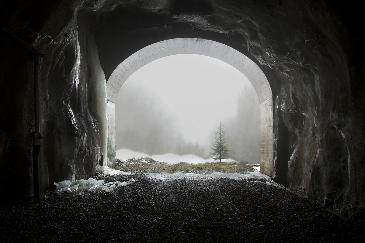 A railway tunnel, Finland.