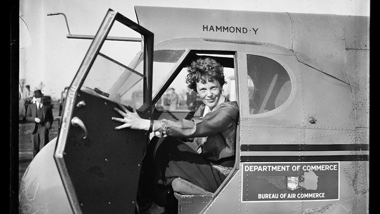 Amelia Earhart, 1936.