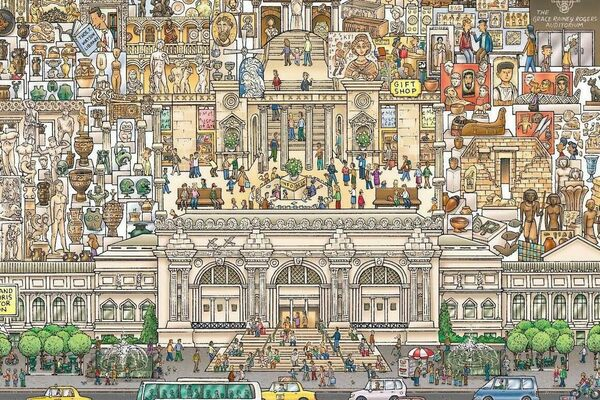 Lose Yourself in a Mesmerizing, Meticulous Map of the Met