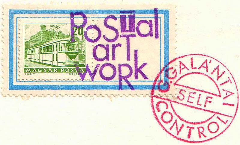 Mail art by the Hungarian artist György Galantai.
