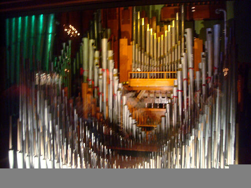 Pipes from The Mighty Wurlitzer organ in the Music Room