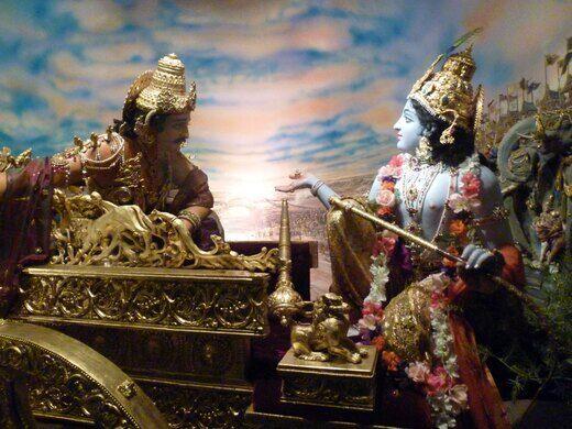 """Diorama #2 """"Setting the Stage"""": Arjun & Krishna"""