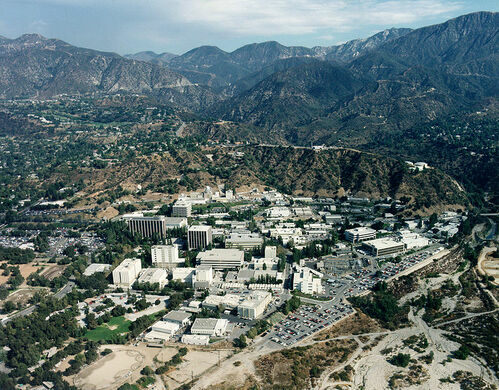 Aerial view of the Jet Propulsion Laboratory