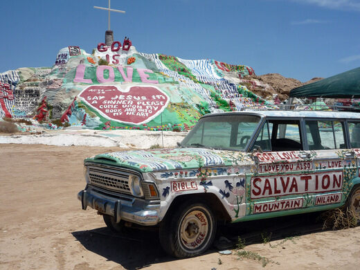 Slab City: Huell visits Salvation Mountain.