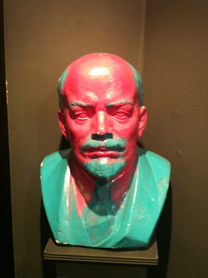 "A vandal produced what is believed to be the only ""Pink Lenin"""