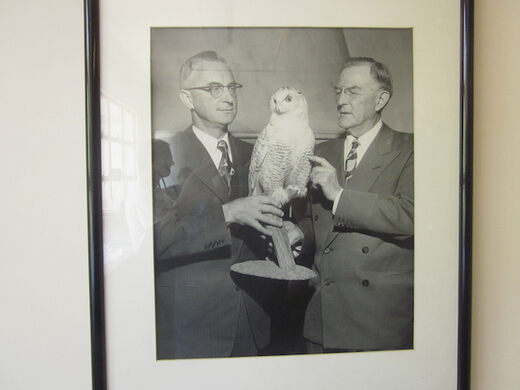Robert T Moore and his white owl