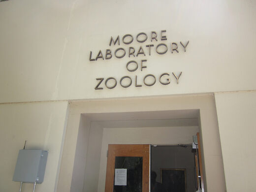 The front of the Moore Lab