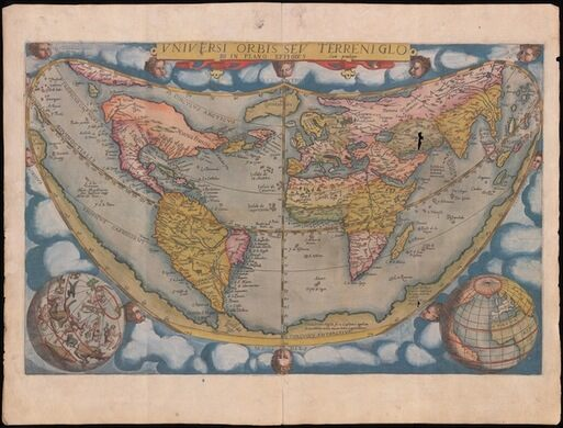 Gerard De Jode. Universi Orbis Sev Terrini Globi, from Speculum Orbis Terrarum. Antwerp, 1578.