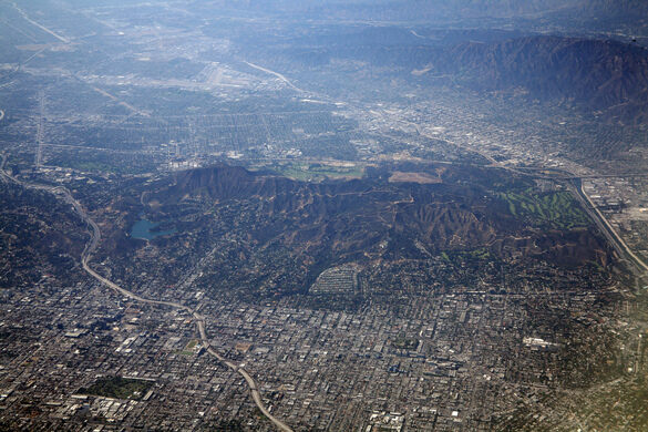 The Hollywood Hills and Griffith Park