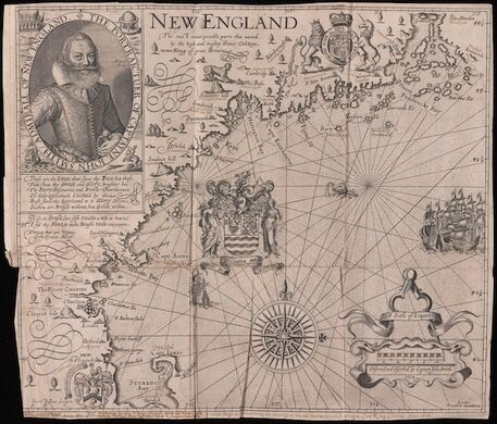 John Smith. New England, from Advertisements for the Un-experienced Planters of New England. London, 1631.