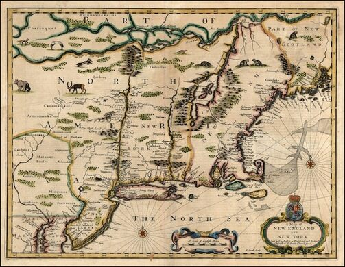 John Speed. A Map of New England and New York. London, 1676.