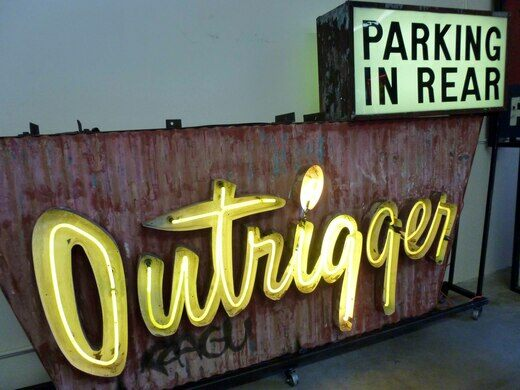 Outrigger rescued sign