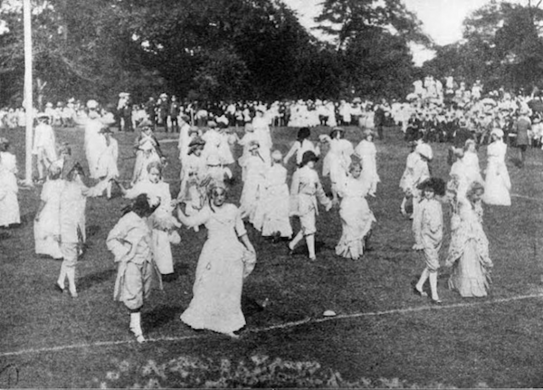 Weaving Dances on the Ball Field, Central Park