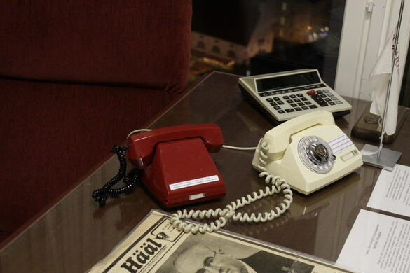 Two phones, one for regular calls, other for direct contact with KGB headquarters