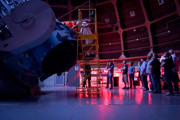 LA Obscura Society viewing through the 60-inch telescope