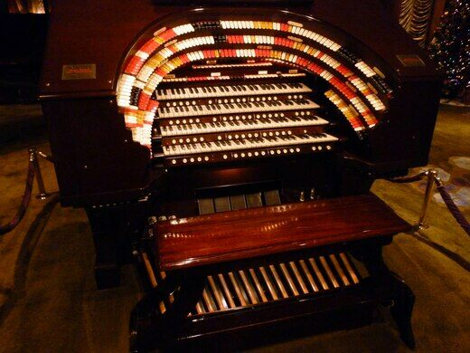 The Mighty Wurlitzer theater organ, the largest of its kind on the West Coast