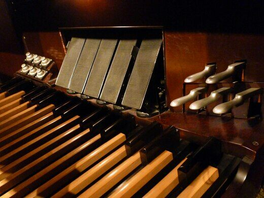 Pedals of the Mighty Wurlitzer in the Music Room