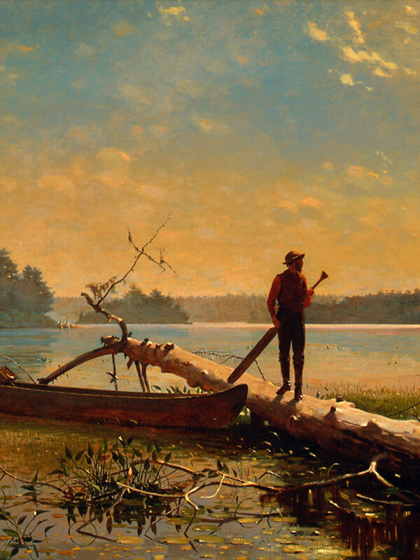 Winslow Homer, An Adirondack Lake, 1870. Oil on canvas. Henry Art Gallery, University of Washington, Seattle, Horace C. Henry Collection, 26.71.