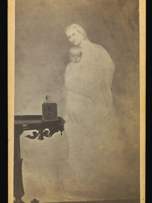 William H. Mumler, Mr. Chapin, Oil Merchant - & His Spirit Wife & Babe Recognized, 1862–1875