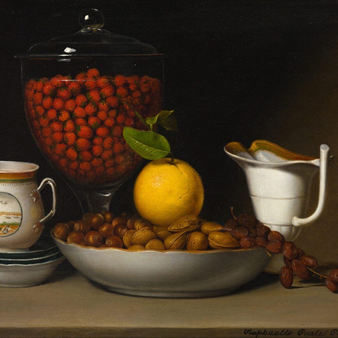 Raphaelle Peale, Still Life - Strawberries, Nuts, &c., 1822