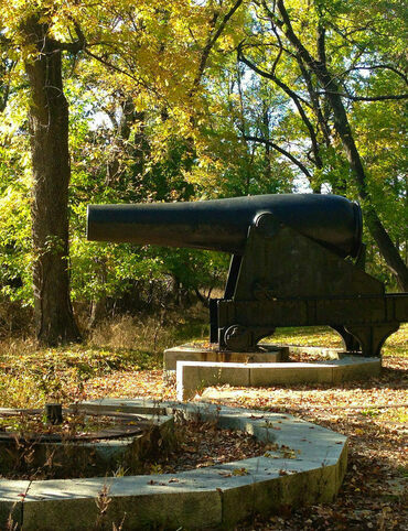 These Civil War guns are located at Fort Washington in Maryland.