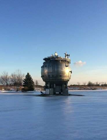Fermilab's bubble chamber, a device used to detect and study subatomic particles, looks like it's straight out of science fiction.