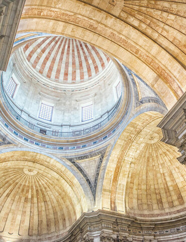 The dome of Estrela Basilica in Lisbon.