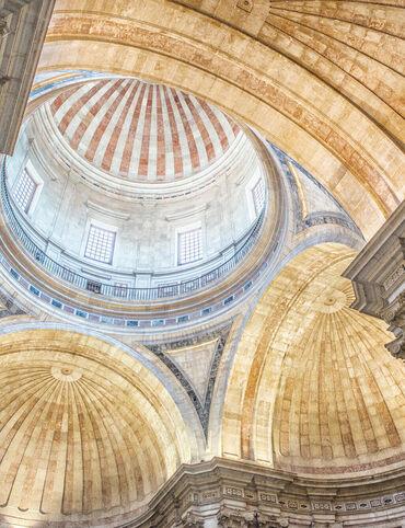 The dome of Estrela Basilica in Lisbon.
