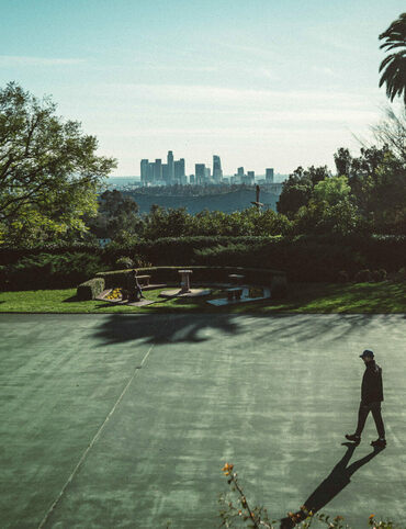 A view of L.A. from the top of Highland Park.