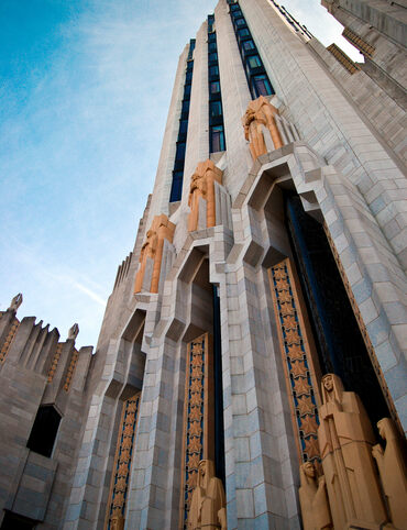The Boston Avenue United Methodist Church's dramatic entrance is one of the finest examples of Art Deco in the state.