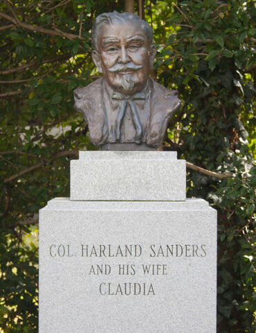 Colonel Harland Sanders's Grave in Cave Hill Cemetery in Louisville, Kentucky.