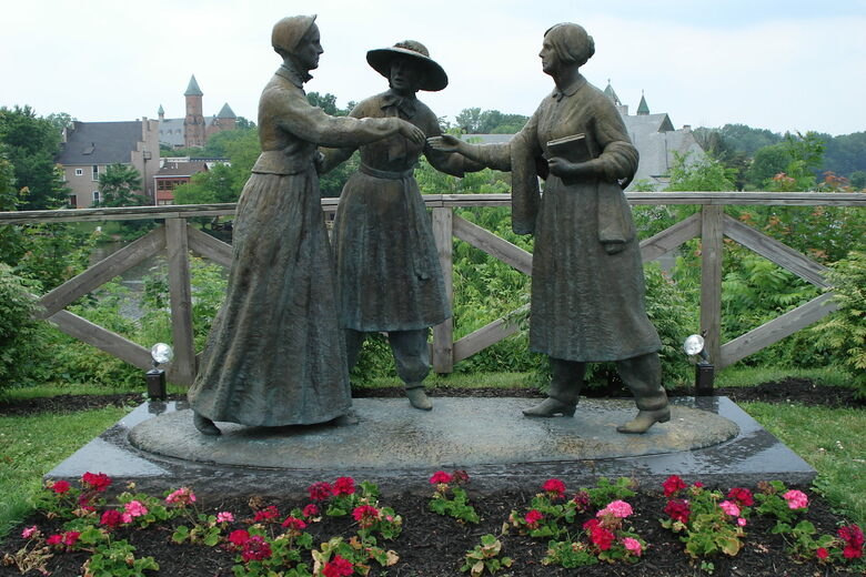Image result for amelia bloomer statue