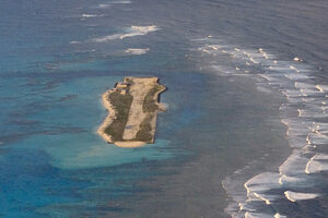 Aerial view of Tern Island.