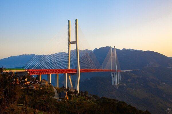 Duge Beipanjiang Bridge in Liupanshui, China