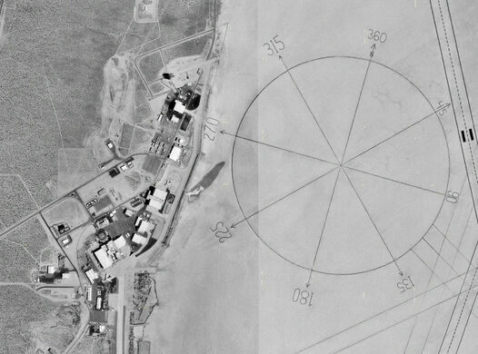 Worlds Largest Compass Rose Edwards Air Force Base California