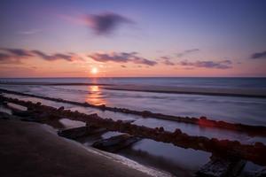 100-year-old tracks on Sunset Beach