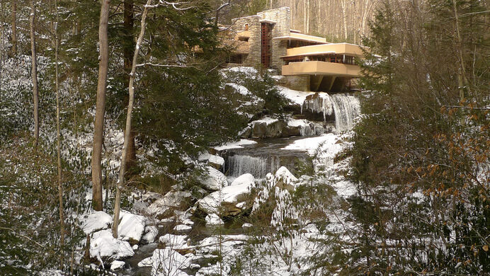 Fallingwater In The Winter Flickr User Focusc (Creative Commons) Part 82