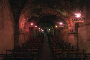The now-underground chapel. Services are still performed here.
