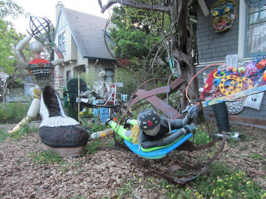 Metal Scrap Yard Near Me >> Mark Oliver's Yard Art – Berkeley, California - Atlas Obscura