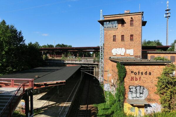 Potsdam-Pirschheide Train Station in Potsdam, Germany