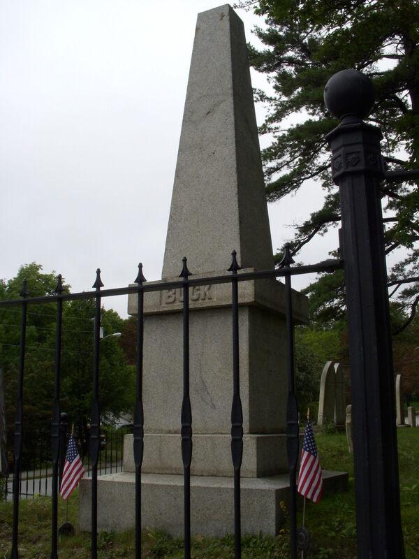 Cursed Memorial Of Colonel Buck Bucksport Maine Atlas