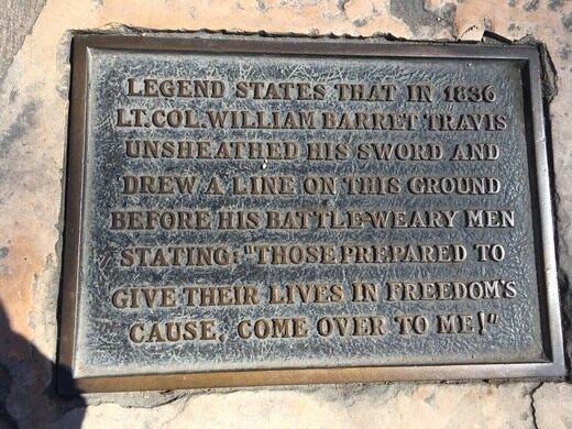 Alamo Line In The Sand San Antonio Texas Atlas Obscura