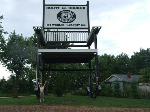 world\'s largest rocking chair Former World's Largest Rocking Chair – Cuba, Missouri   Atlas Obscura world\'s largest rocking chair
