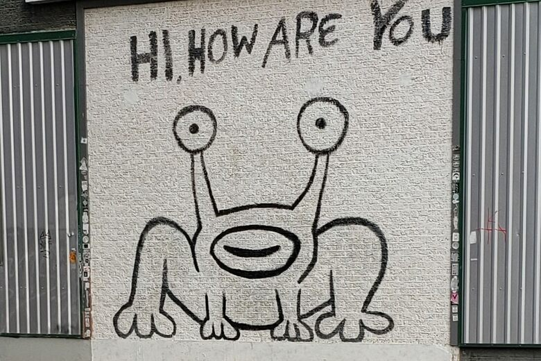 'Hi, How Are You' Mural