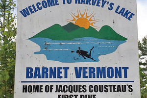 Sign at the entrance to Harvey's Lake.
