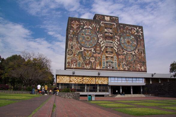 Unam Central Library Mexico City Mexico Atlas Obscura